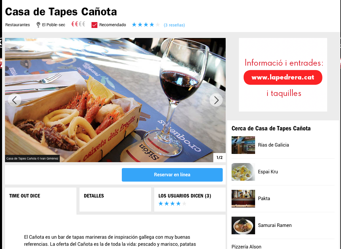 Casa de Tapes Cañota